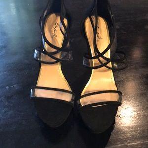 NWOT Women's Qupid Black Size 10/ 5 in heel 💕